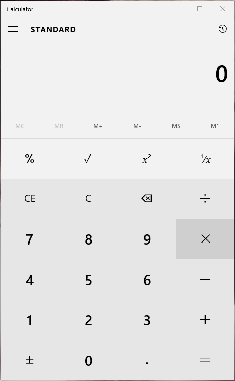 Win 10 Calculator